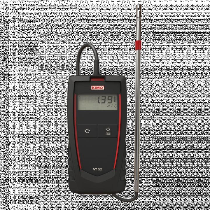 Máy đo tốc độ gió dạng dây nhiệt và nhiệt độ môi trường Kimo VT50