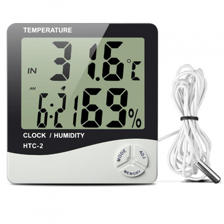 Đồng hồ đo nhiệt độ và độ ẩm không khí 3 chức năng HTC-2