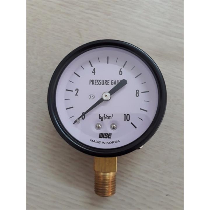 Đồng hồ áp suất WISE P110 Series dải 0-15 bar, đường kính 63 mm.