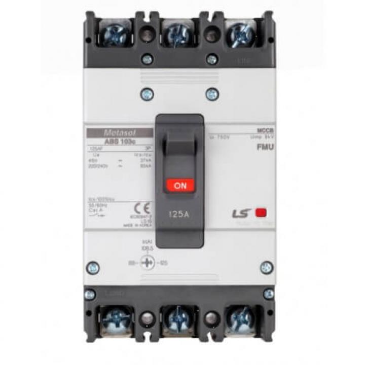 Cầu dao chỉnh dòng (aptomat) MCCB LS ABS103c FMU 125A