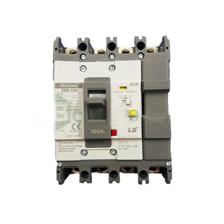 Cầu dao điện chống giật (aptomat) ELCB LS EBN104c 75A