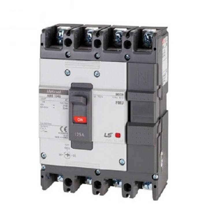 Cầu dao chỉnh dòng (aptomat) MCCB LS ABS104c FMU 63A
