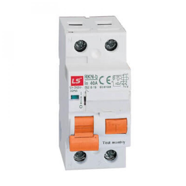 Cấu dao chống giật (aptomat) RCCB LS RKN-b 1P+N 100A