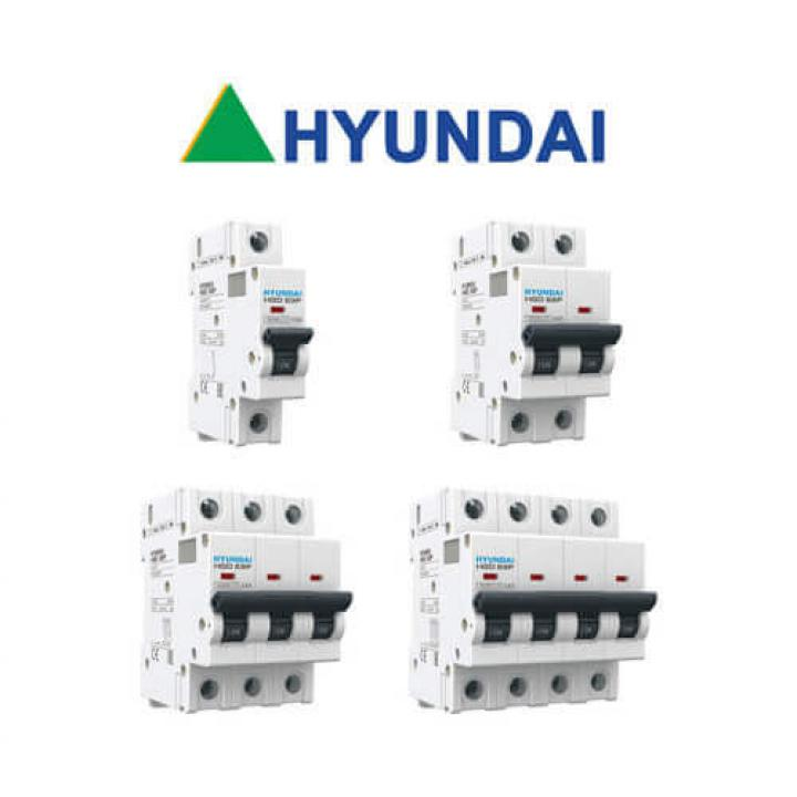 Cầu dao tự động (aptomat) MCB Hyundai HGD63N 4P 20A