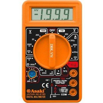 Đồng hồ đo điện vạn năng 3½ Digit LCD Asaki AK-9180