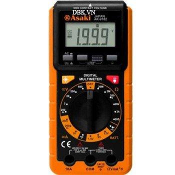 Đồng hồ đo điện vạn năng cao cấp 3½ Digit LCD Asaki AK-9182