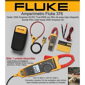 Ampe kìm AC/DC Fluke 376 (True RMS, 1000A, kèm dây đo mềm 2500A)