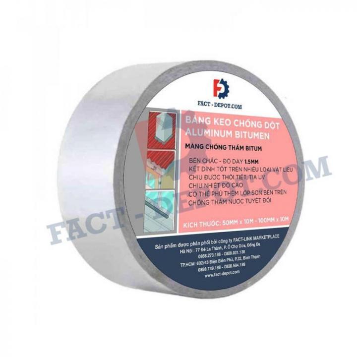 Băng keo chống dột Aluminum Bitumen Fact-Depot 50mm x 10m