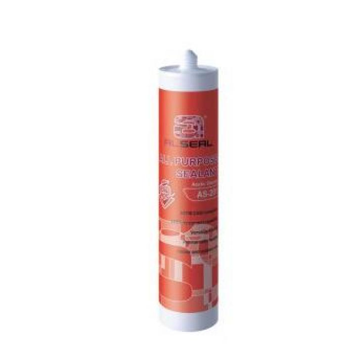 Keo silicone đa dụng Alseal AS201 màu trong, trắng, xám đen