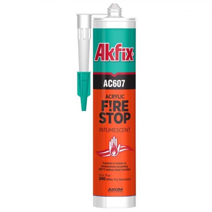 Acrylic chống cháy Akfix AC607W 310ml màu trắng