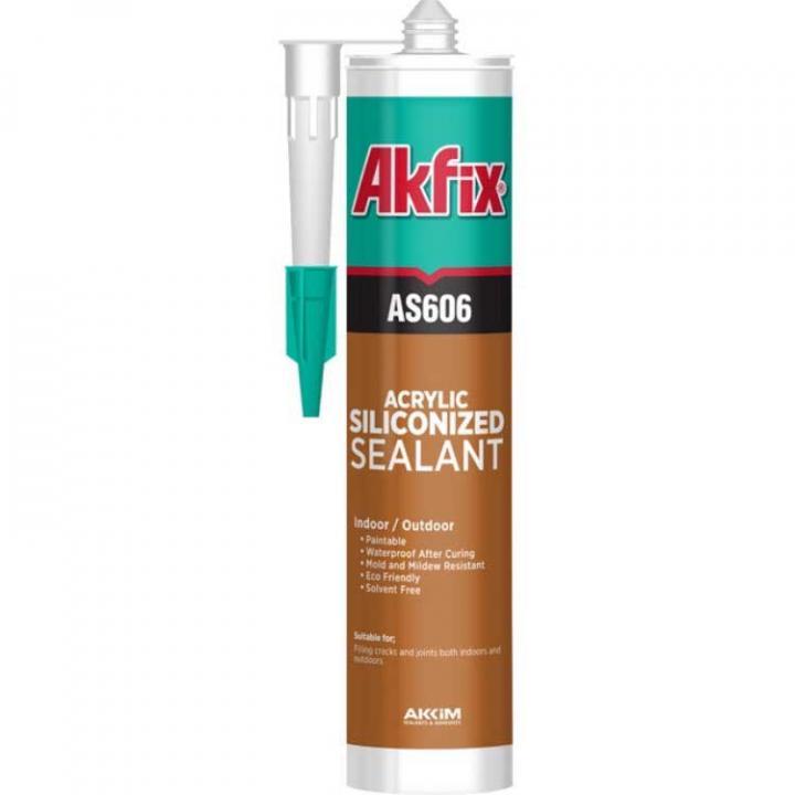 Keo trám khe gốc Acrylic có gia cường silicone Akfix AS606W 310ml màu trắng