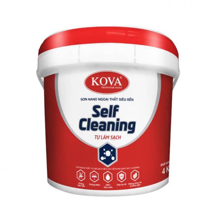 Sơn ngoại thất tự làm sạch siêu cao cấp KOVA NANO Self Cleaning Nền D-A