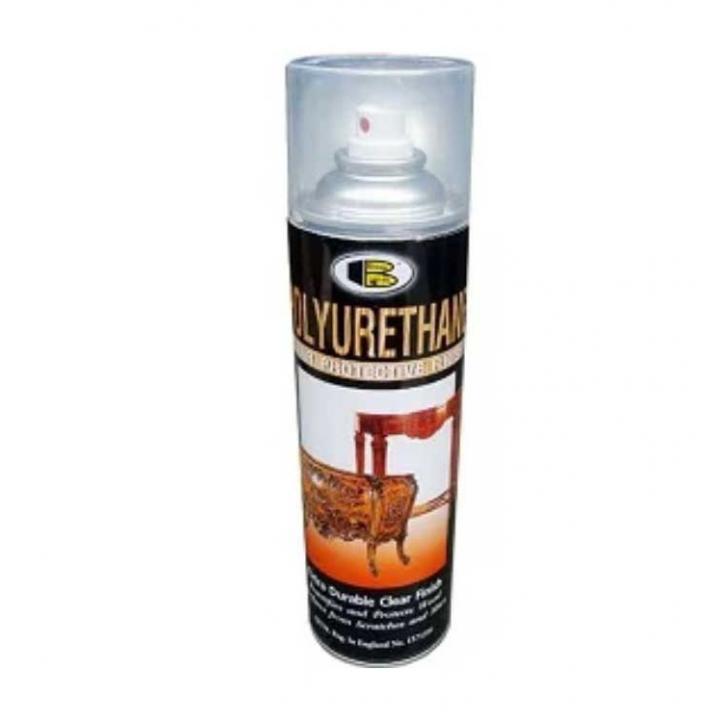 Sơn Xịt PU bóng gỗ Bosny Polyurethane 600cc 12 chai