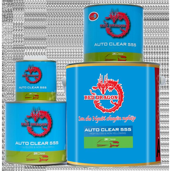 Sơn bóng 2K Auto Clear 555 Rồng Đỏ 20kg