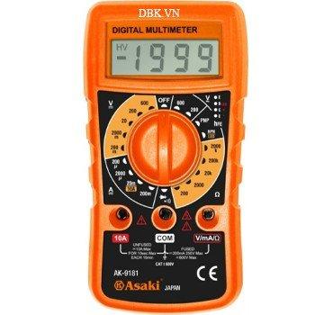 Đồng hồ đo điện vạn năng cao cấp 3½ Digit LCD Asaki AK-9181
