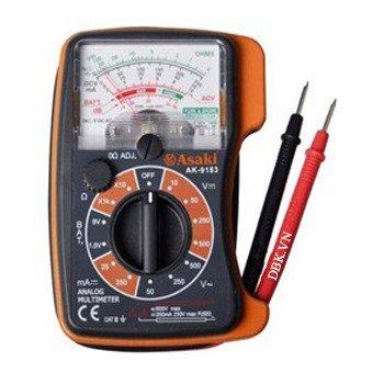Đồng hồ kim đo điện vạn năng  119 x 85 x 28mm Asaki AK-9183