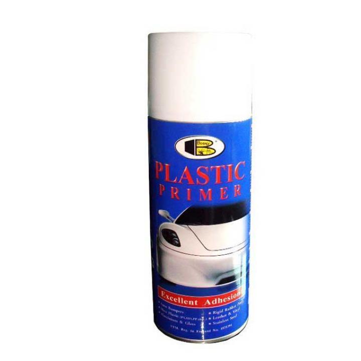 Sơn lót nhựa dạng xịt Bosny Plastic Primer 400cc 6 chai