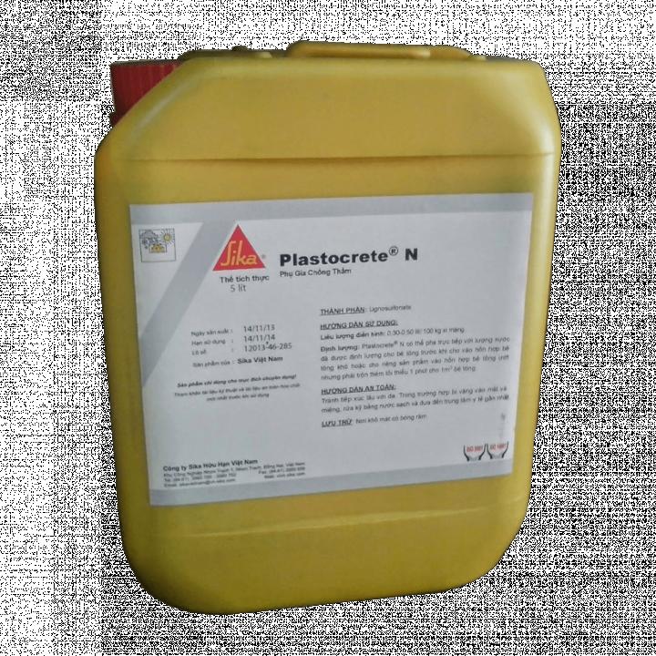 Phụ gia chống thấm cho bê tông Sika Plastocrete N 5L