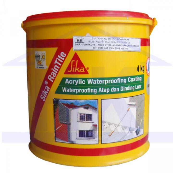 Hợp chất chống thấm đàn hồi Sika Raintite 4kg