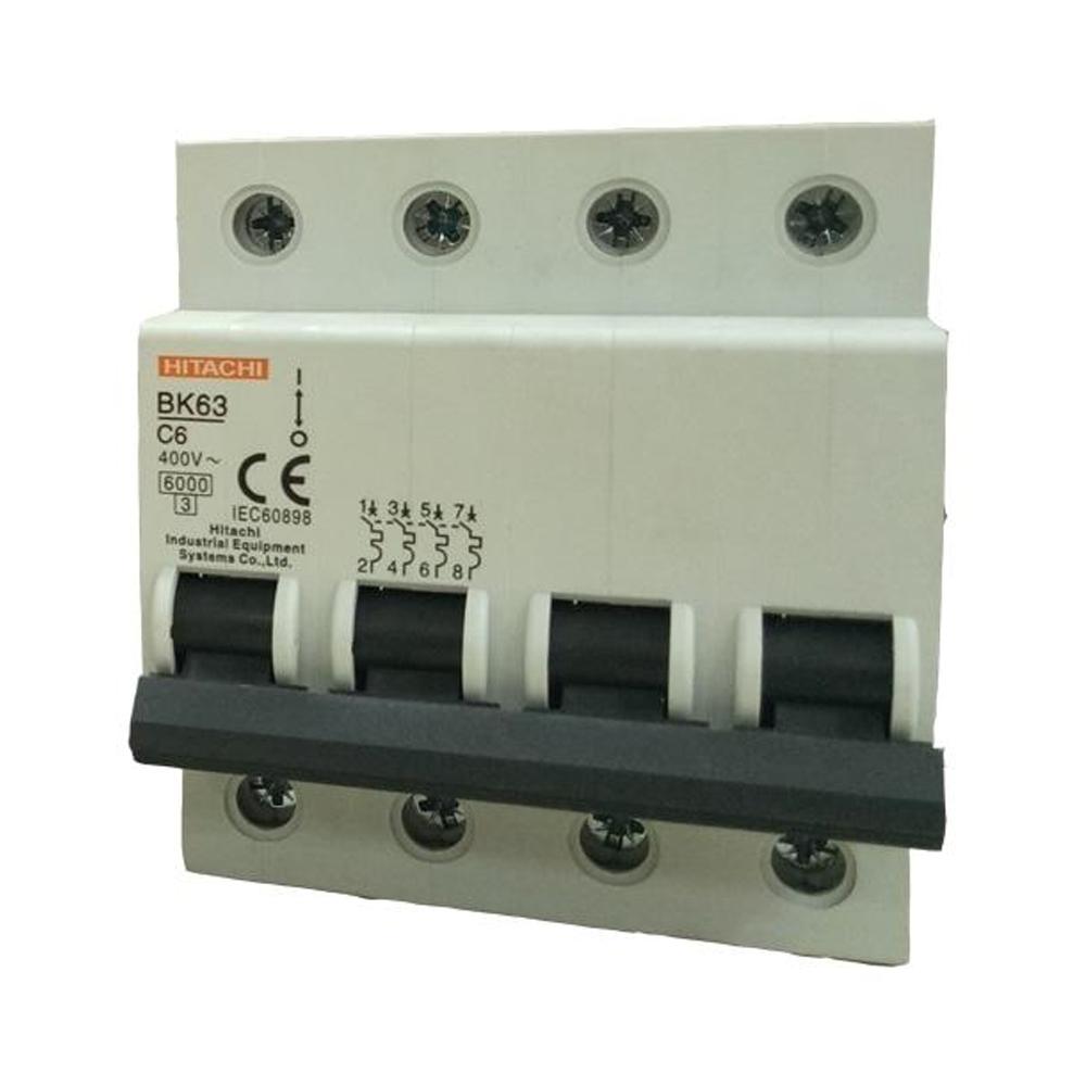 CB tép Hitachi BK63 4P 6A