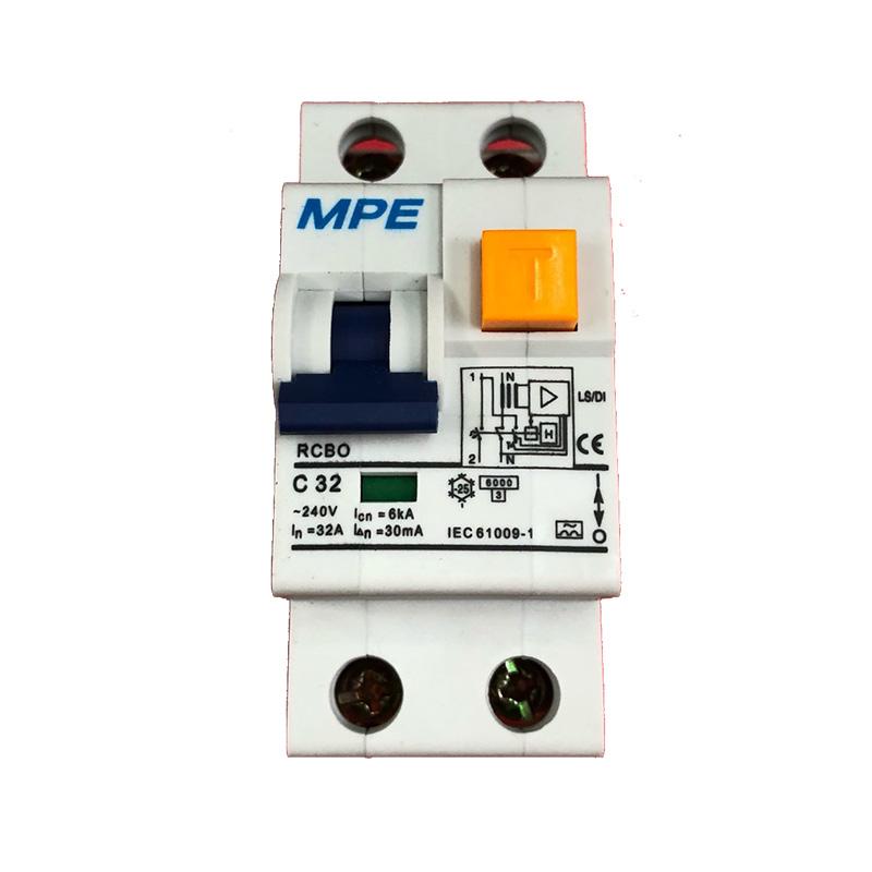 Cầu dao bảo vệ dòng rò và quá tải số cực 2p, In 32A MPE RCB0-30/232 dòng rò 30mA