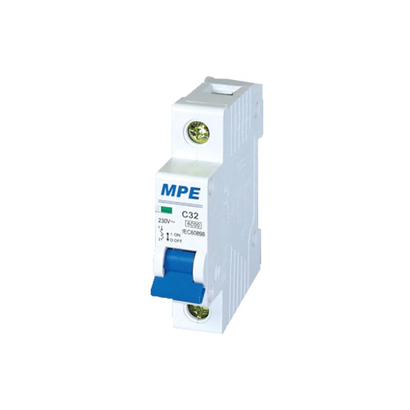 Cầu dao tự động số cực 1p, In 40A MPE MP6-C140 ICu 6kA