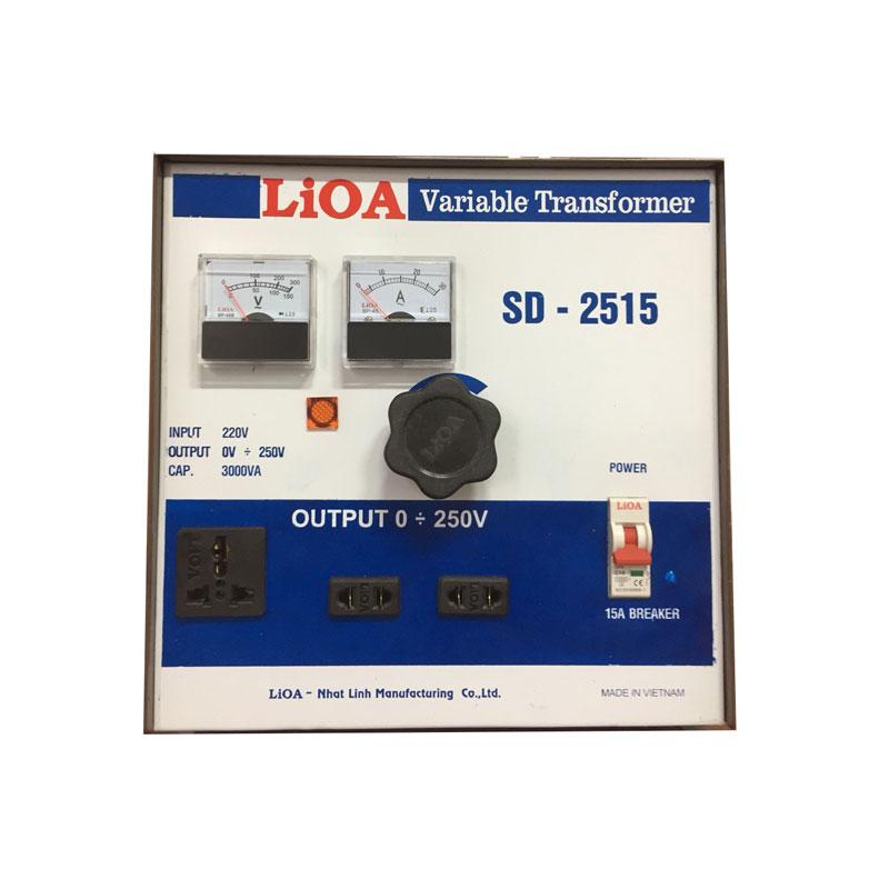 Biến áp vô cấp 1 PHA 3.3kVA LiOA SD-2515