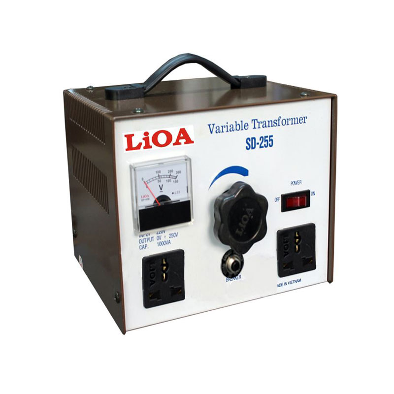Biến áp vô cấp 1 PHA 1.1kVA LiOA SD-255