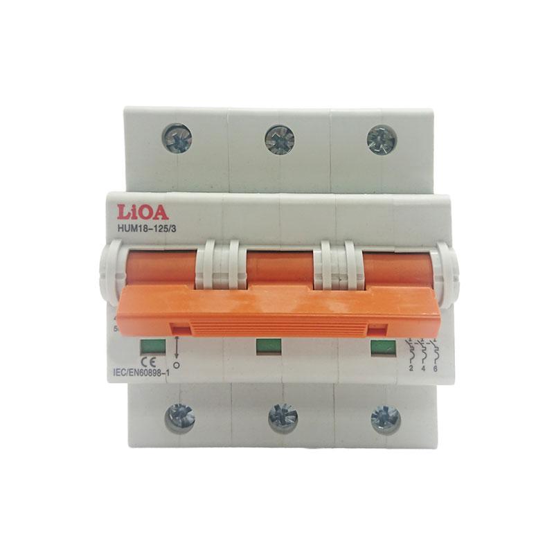 Aptomat loại 3 cực dòng điện 100A LiOA MCB3100/6