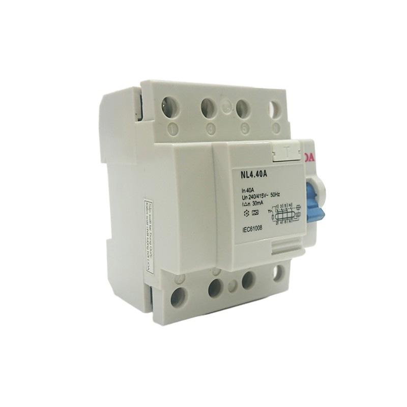 Aptomat chống giật loại 4 cực dòng điện 40A LiOA RCCB4040/30