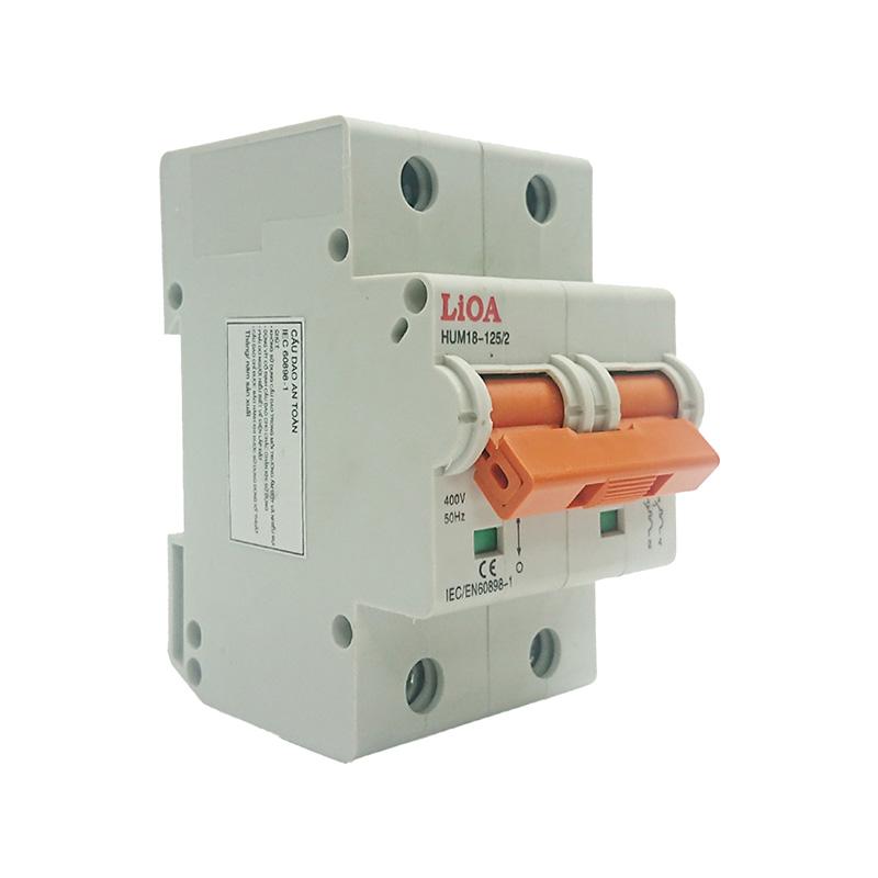 Aptomat loại 2 cực dòng điện 50A LiOA MCB2050/4,5