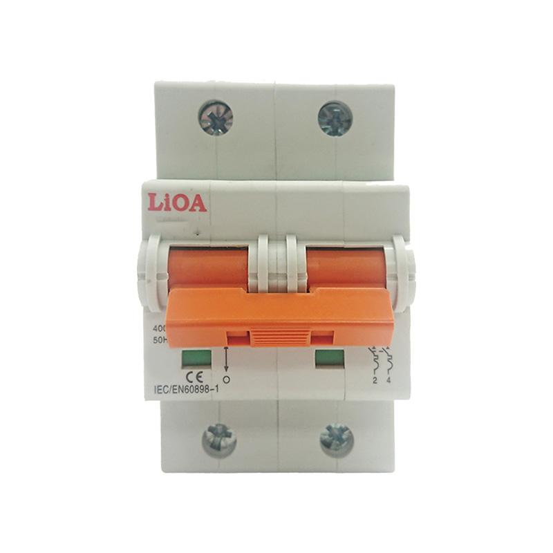 Aptomat loại 2 cực dòng điện 63A LiOA MCB2063/4,5