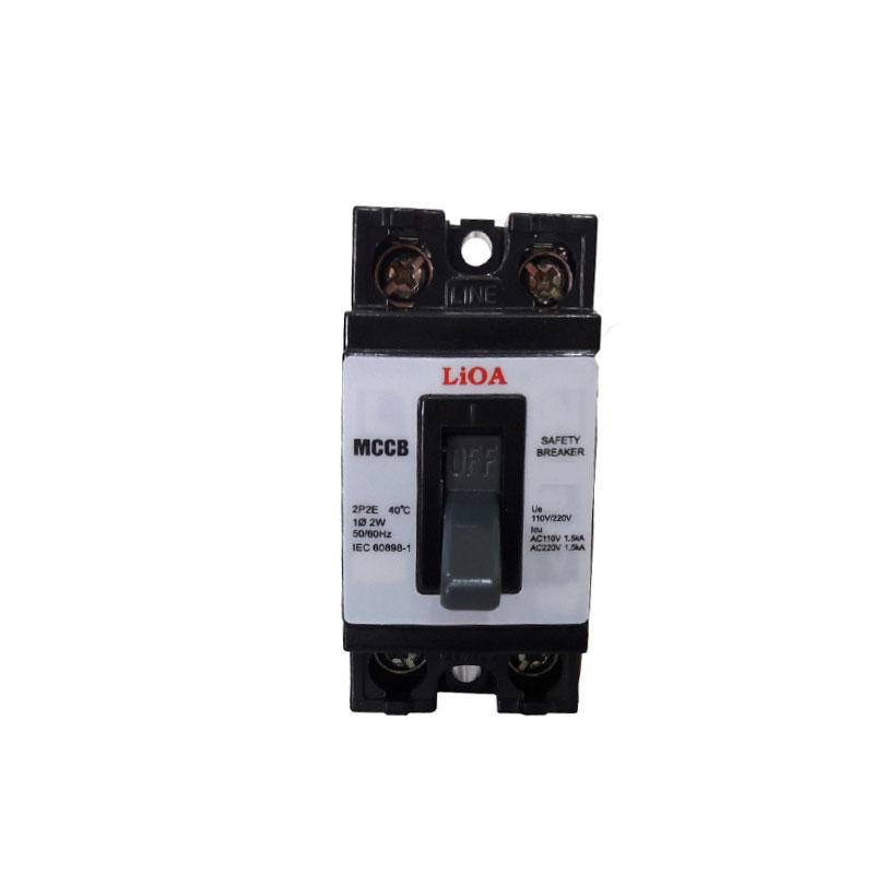 Aptomat 2P lắp nổi dòng điện 5A LiOA MCCB2P1E/5A