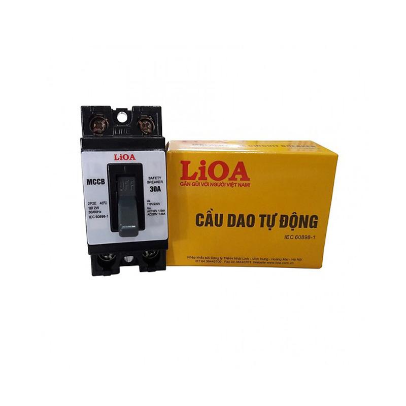 Aptomat 2P lắp nổi dòng điện 30A LiOA MCCB2P2E/30A