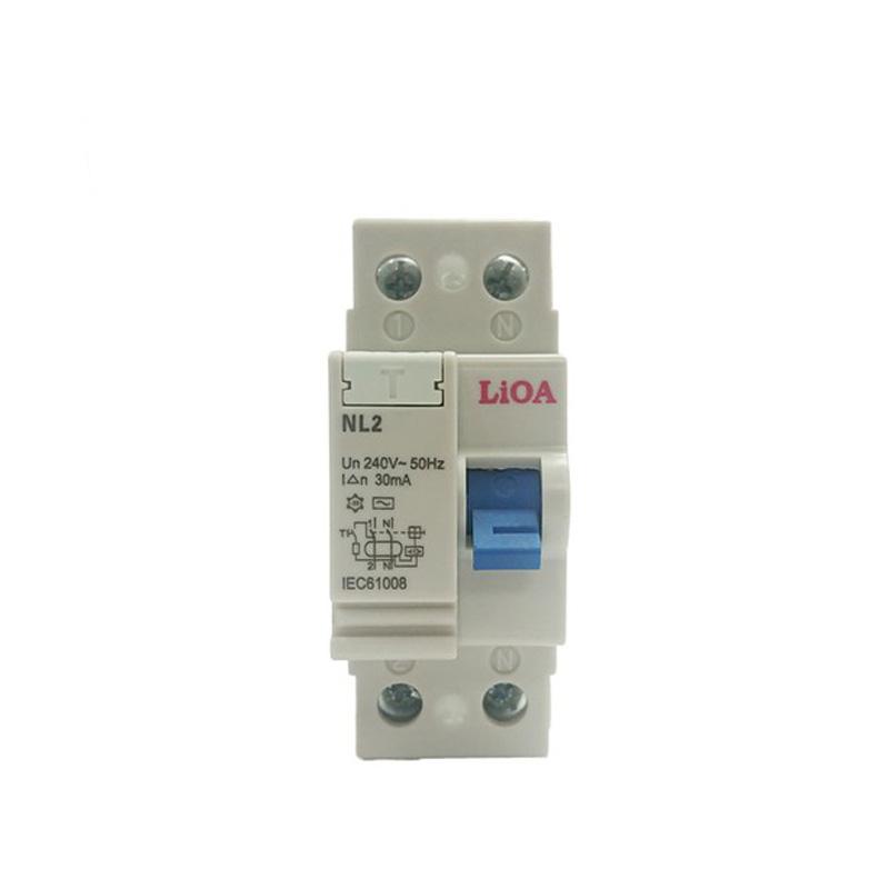 Aptomat chống giật loại 2 cực dòng điện 16A LiOA RCCB2016/30