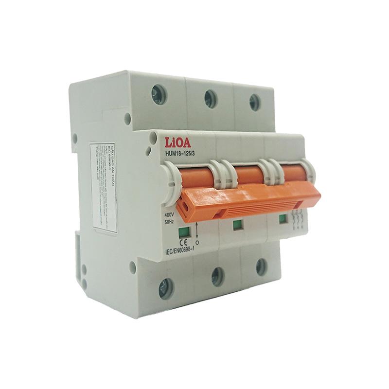 Aptomat loại 3 cực dòng điện 63A LiOA MCB3063/10