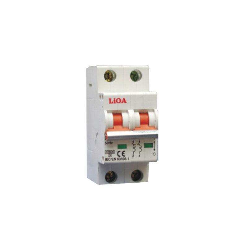 Aptomat loại 2 cực dòng điện 63A LiOA MCB2063/10