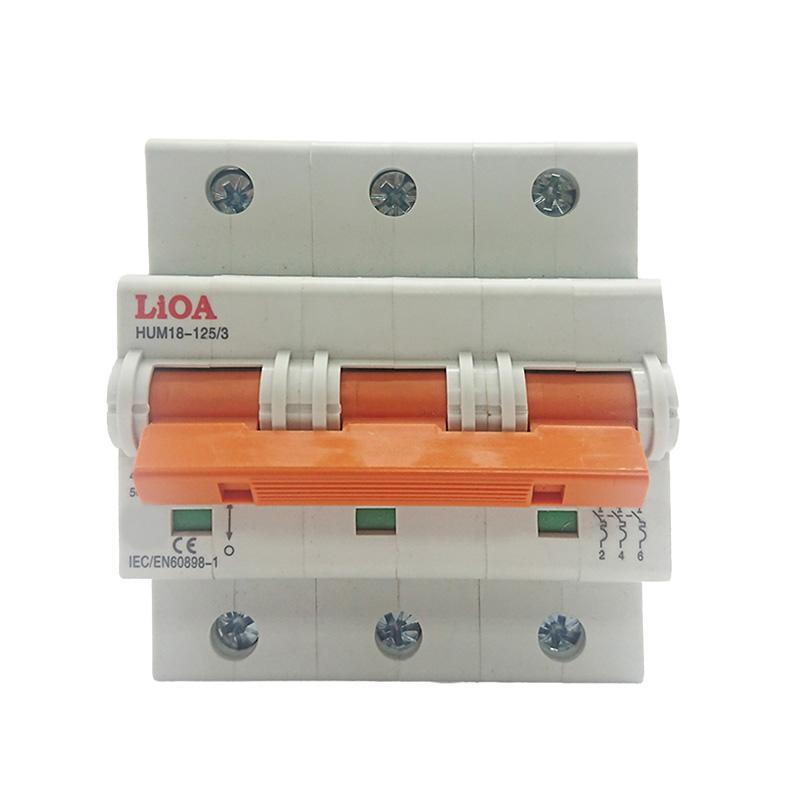 Aptomat loại 3 cực dòng điện 100A LiOA MCB3100/4,5