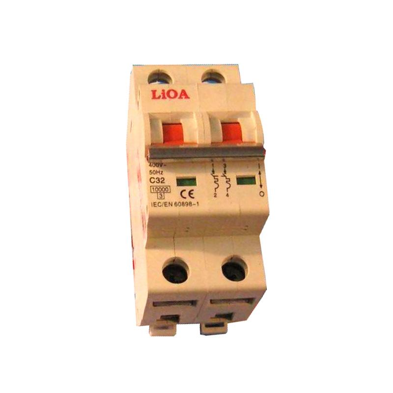 Aptomat loại 2 cực dòng điện 100A LiOA MCB2100/6