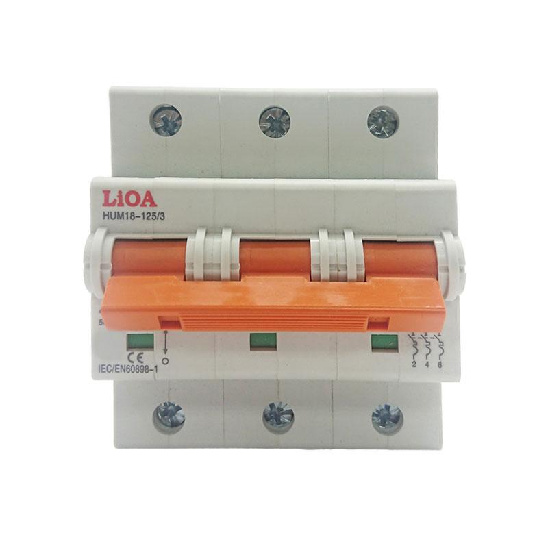 Aptomat loại 3 cực dòng điện 75A LiOA MCB3075/6