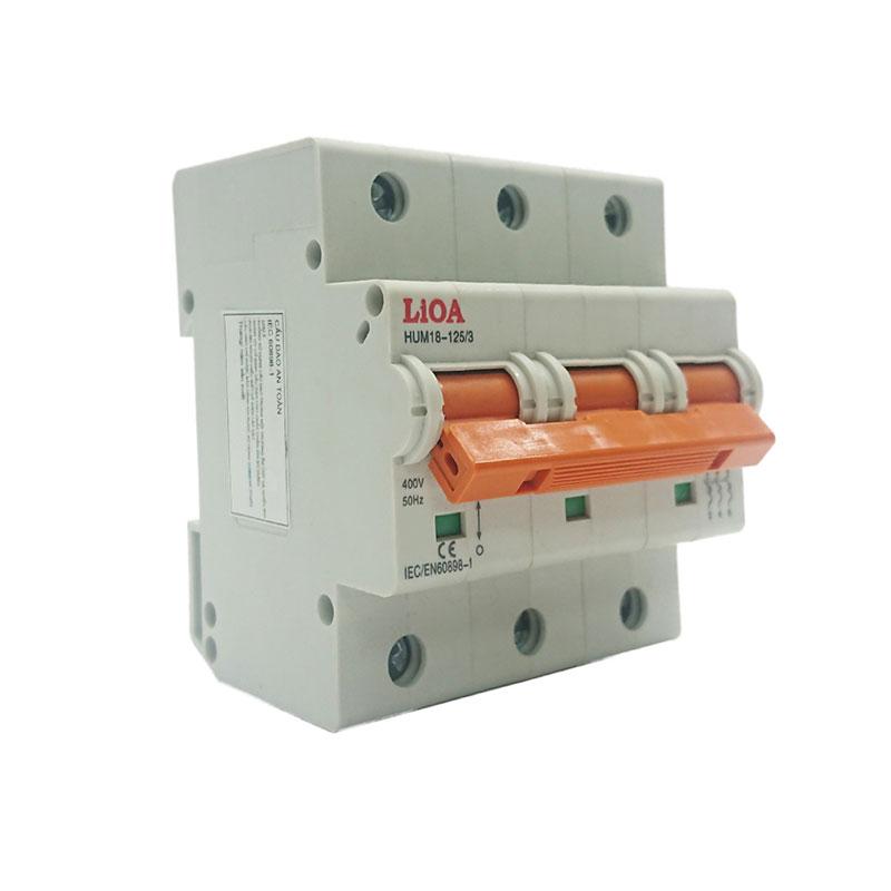 Aptomat loại 3 cực dòng điện 50A LiOA MCB3050/6