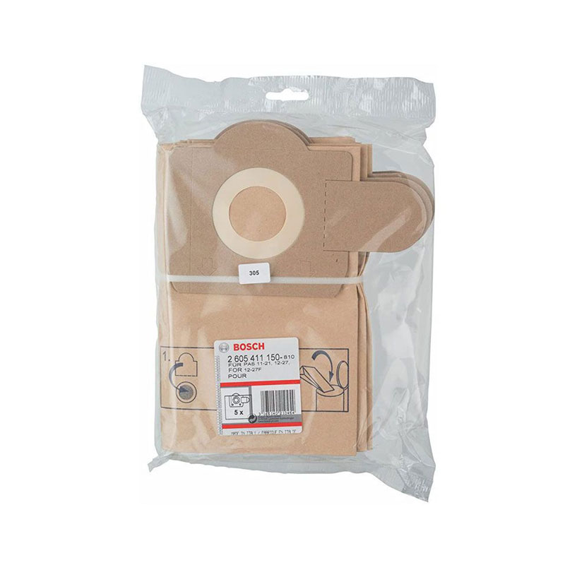 Túi giấy lọc bụi GAS 11-21 BOSCH 2605411150