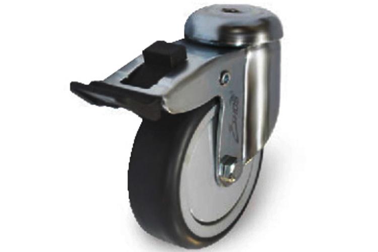 Bánh xe cao su tải trọng trung bình dòng 230 trục xoay có thắng Ethos 213TPE050H10