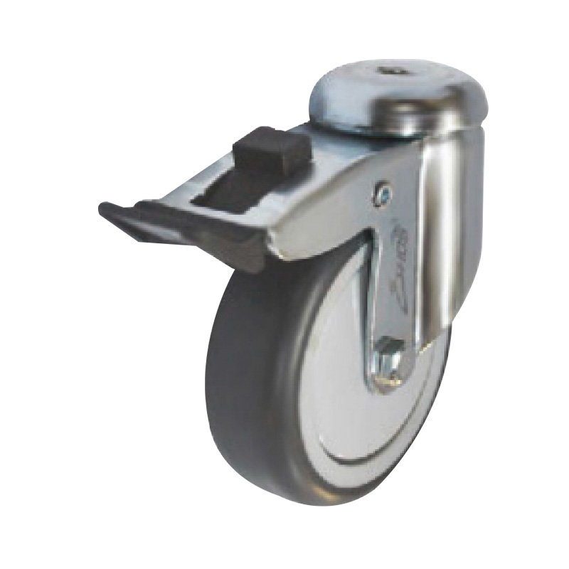 Bánh xe cao su tải trọng trung bình dòng 230 trục xoay có thắng Ethos 213TPE075H10