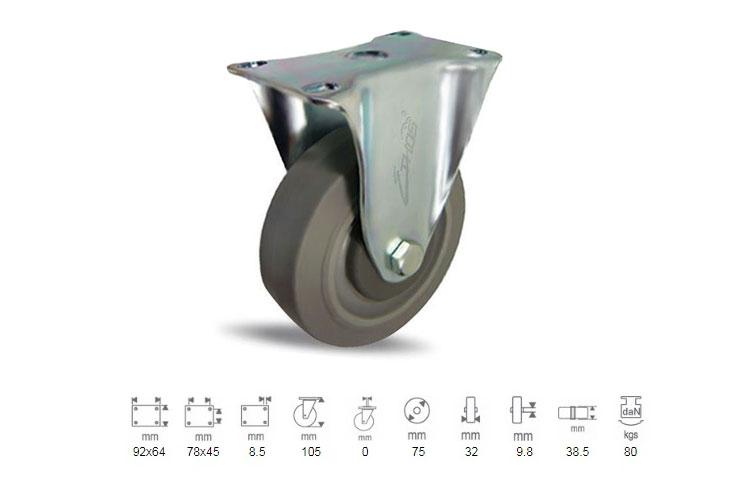 Bánh xe tải trọng nhẹ Ethos cao su 252EIY075P01