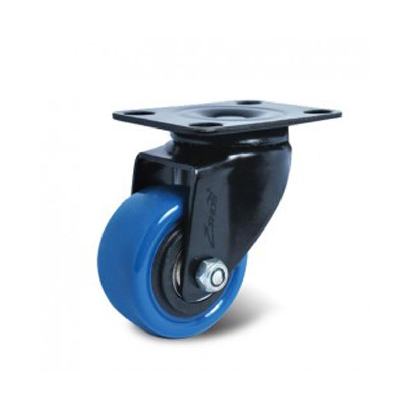 Bánh xe nhựa PU dòng 260 tải trọng trung bình trục xoay Ethos 261UBZ040P60