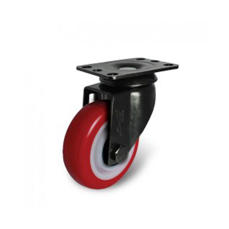 Bánh xe nhựa PU dòng 260 tải trọng trung bình trục xoay Ethos 261/271URY075P01