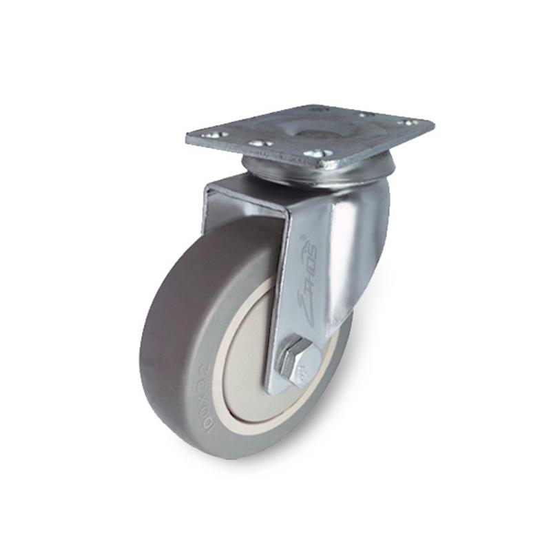 Bánh xe cao su dòng 260 tải trọng trung bình trục xoay Ethos 261/271TPY075P01