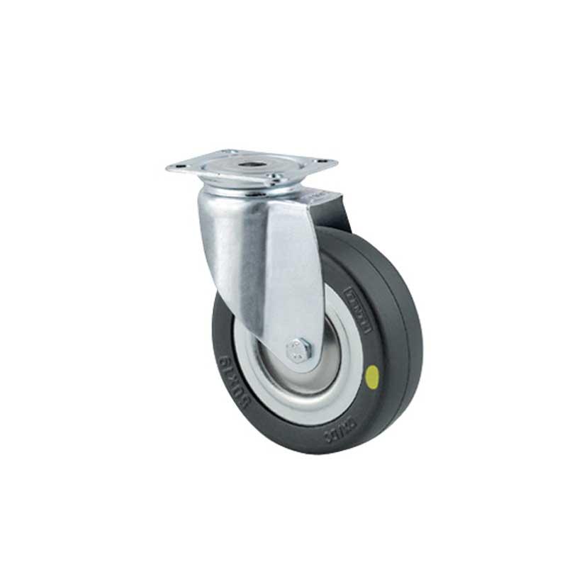Bánh xe cao su chống tĩnh điện tải trọng trung bình trục xoay Tente 2470DYK100P50