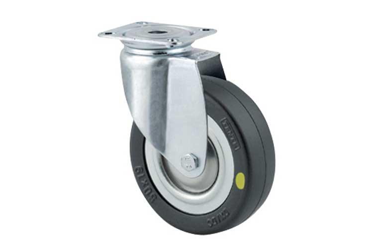 Bánh xe cao su chống tĩnh điện tải trọng trung bình trục xoay Tente 2470DYK125P50